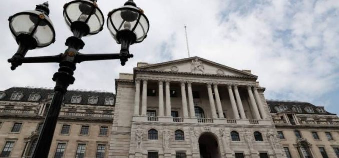 Taux relevés pour la Banque d'Angleterre